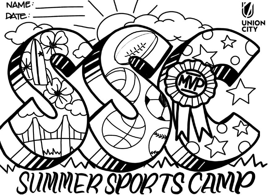 Sports Camp  Coloring Page