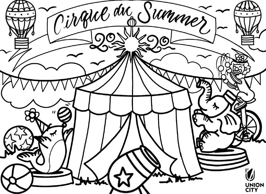 Summer Day Camp Coloring Page